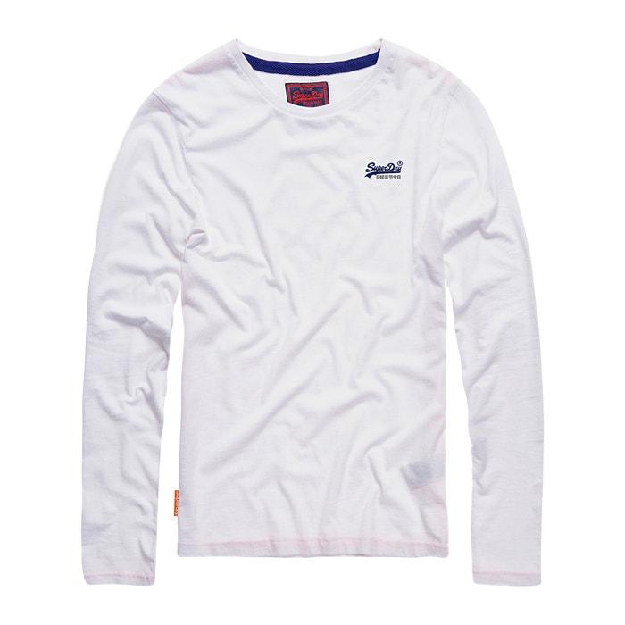 manga con Camiseta larga redondo lisa SUPERDRY cuello wpgXXCx