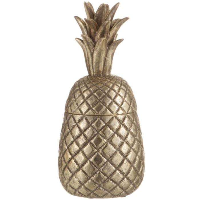 Boite en forme d ananas déco en résine 39 cm Jolipa   La Redoute 3ff2a0102b02