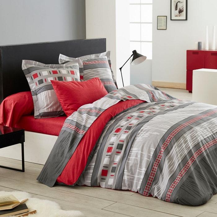 housse de couette corentin en lyocell rouge rouge origin la redoute. Black Bedroom Furniture Sets. Home Design Ideas