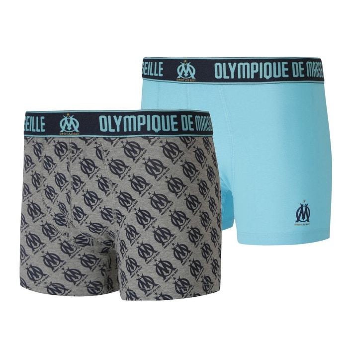 e1466cc99e1c4 Lot de 2 boxers om bleu gris bleu Made In Sport