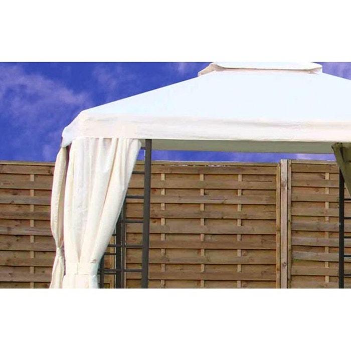 toile de toit pour tonnelle t08 aluminium 3 x 3 m ecrue blanc le reve chez vous la redoute. Black Bedroom Furniture Sets. Home Design Ideas