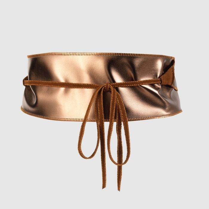 Image Reversible Wide Dual Fabric Belt CASTALUNA