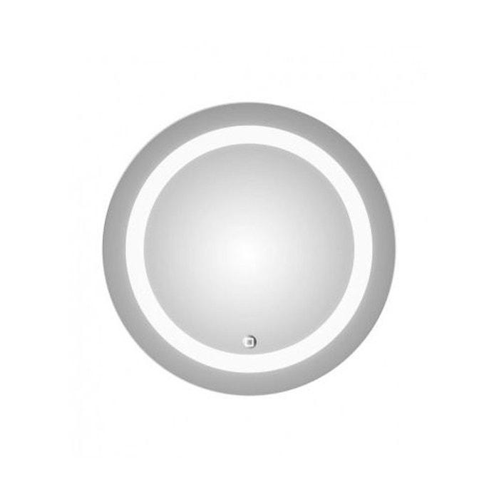 Miroir 39 led light circle 39 gris home bain la redoute for Bain miroir shampoo