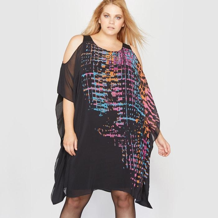 Image Wzorzysta sukienka bez rękawów CASTALUNA