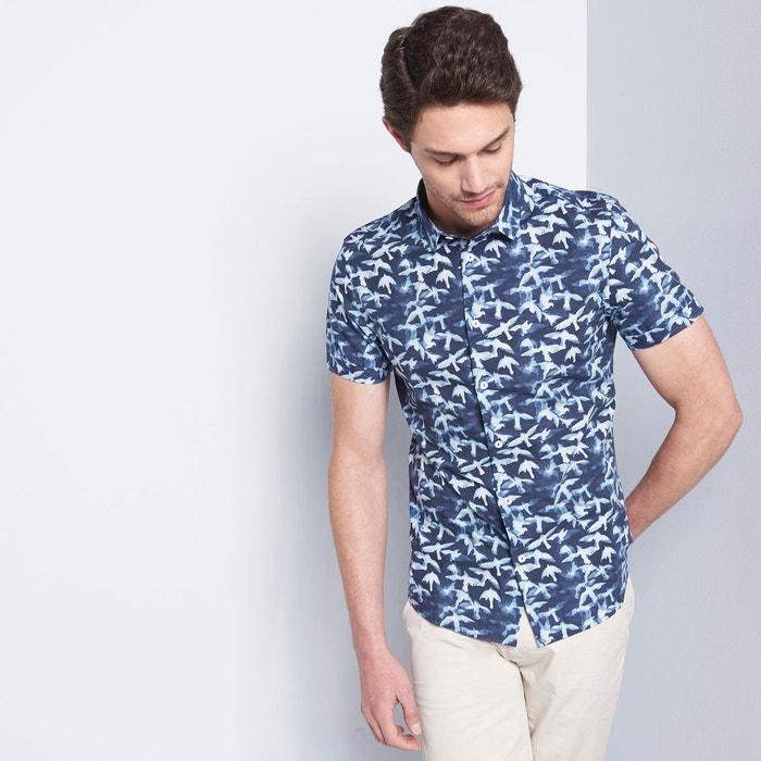 chemise homme casual imprim bleu night devred la redoute. Black Bedroom Furniture Sets. Home Design Ideas