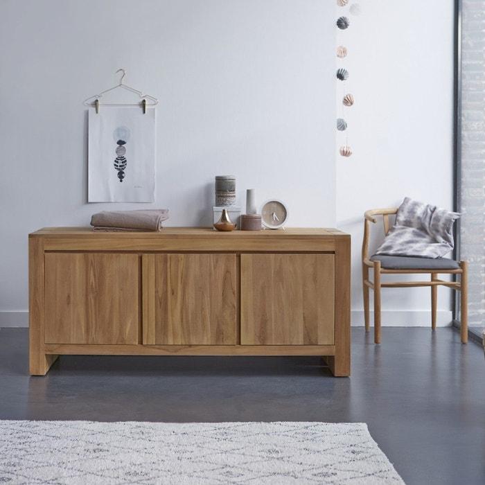 buffet bahut petit meuble en teck 160cm mobilier bois massif meuble de rangement tikamoon image 0