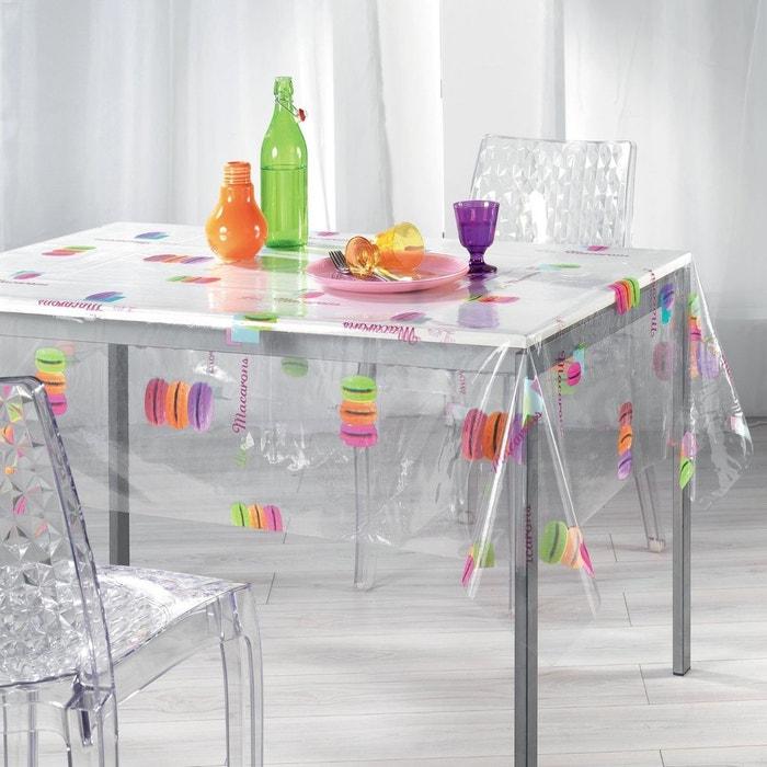 nappe imperm able rectangulaire en pvc 140 x 240 cm macaron couleur unique douceur d. Black Bedroom Furniture Sets. Home Design Ideas