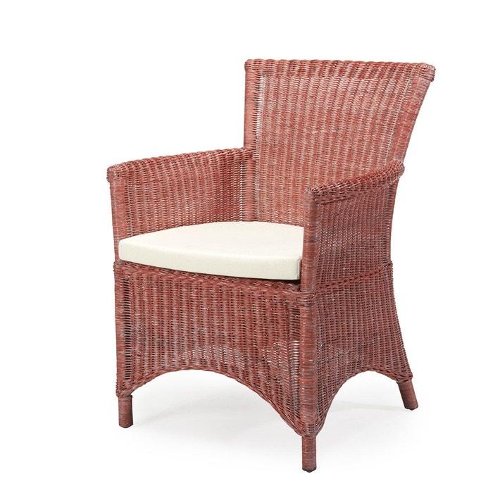 fauteuil en fitrit tress rosas rouge rotin design rouge c rus blanc rotin design la redoute. Black Bedroom Furniture Sets. Home Design Ideas