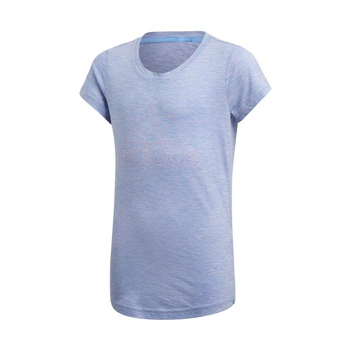 47a4f83ce Camiseta 5 - 15 años azul Adidas Performance