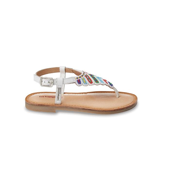 Sandali pelle e perle NUAGE, piatti infradito  LES TROPEZIENNES PAR M.BELARBI image 0