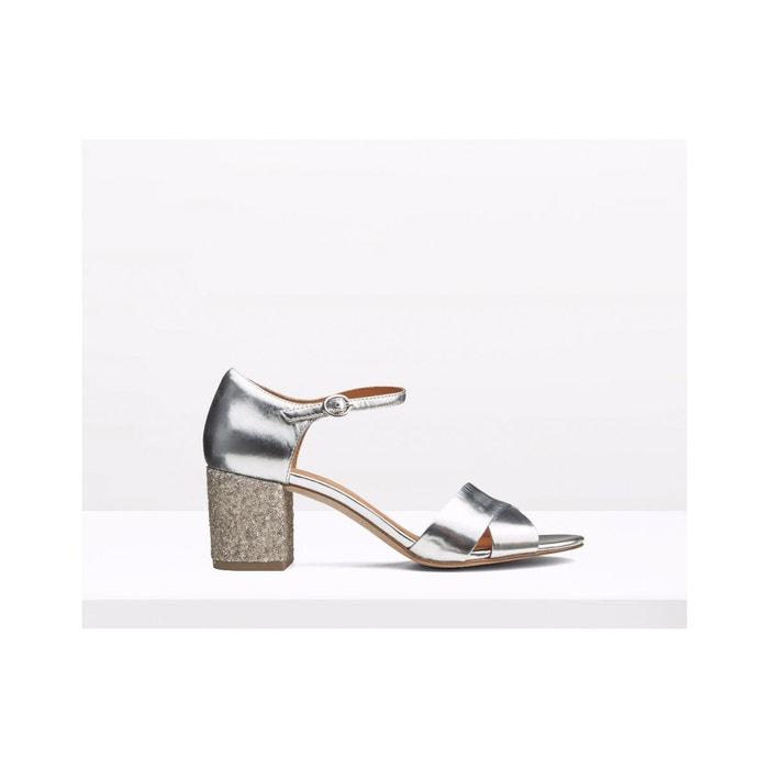 Sandales en cuir - briare  argente What For  La Redoute