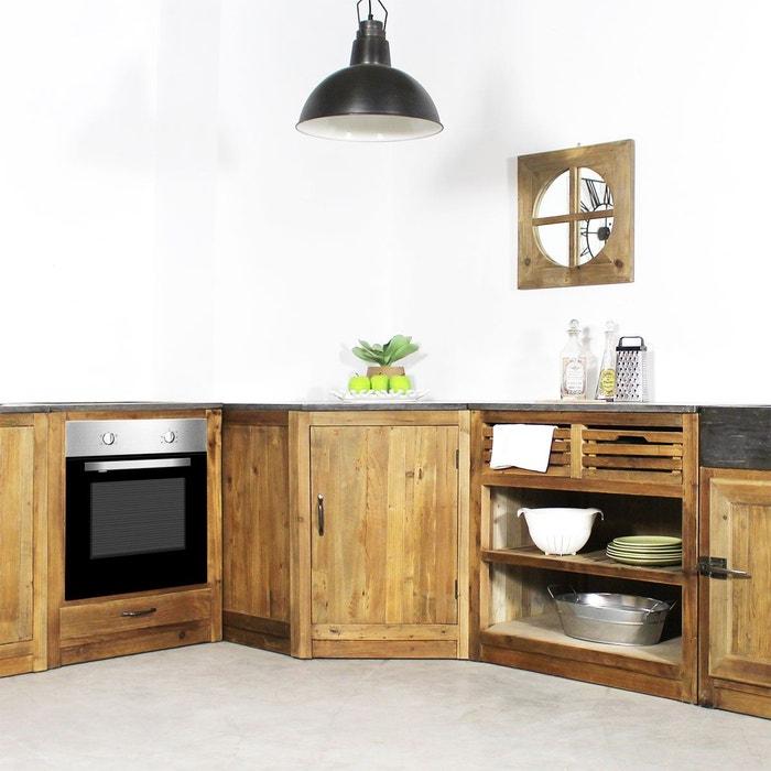 Meuble de cuisine en angle 1 porte champetre op1111 pierre naturelle made - La redoute meubles de cuisine ...