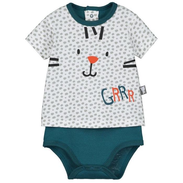Body t-shirt bébé garçon roots ecru Petit Beguin  685ce8b2c09