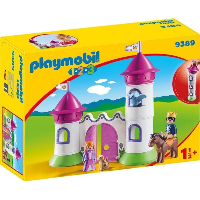 Playmobil 9389 1.2.3 - château de princesse avec tours empilables ...