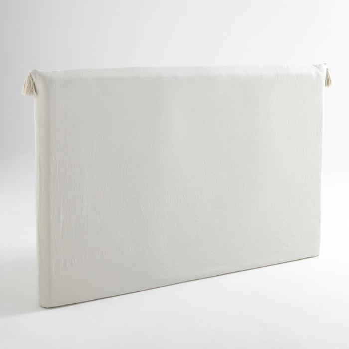 Image Housse tête de lit lin lavé, à pompons, Sandor AM.PM.