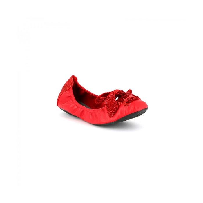 Ballerines glitter jablyss rouge Cassis Cote Dazur