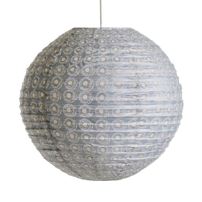 suspension ronde sidy motif java gris blanc am pm la redoute. Black Bedroom Furniture Sets. Home Design Ideas