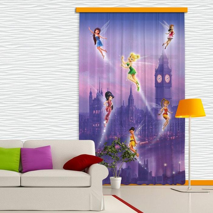 rideaux f e clochette london disney occultant 140x245 cm bleu walltastic la redoute. Black Bedroom Furniture Sets. Home Design Ideas