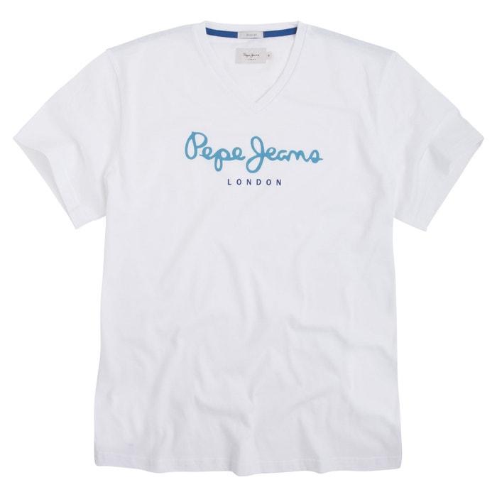 afbeelding T-shirt met V-hals en korte mouwen PEPE JEANS