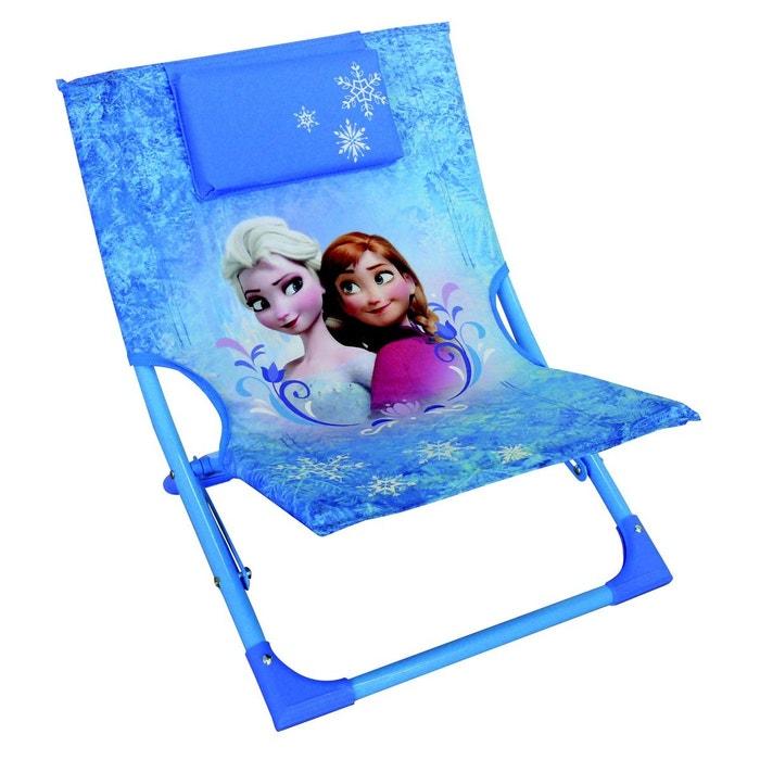 chaise longue pliable enfant la reine des neiges disney bleu jemini la redoute. Black Bedroom Furniture Sets. Home Design Ideas