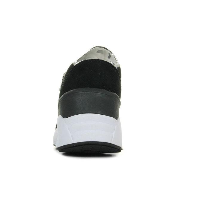 Baskets femme linea fondo anita dis1 glitter neoprene noir/argent Versace