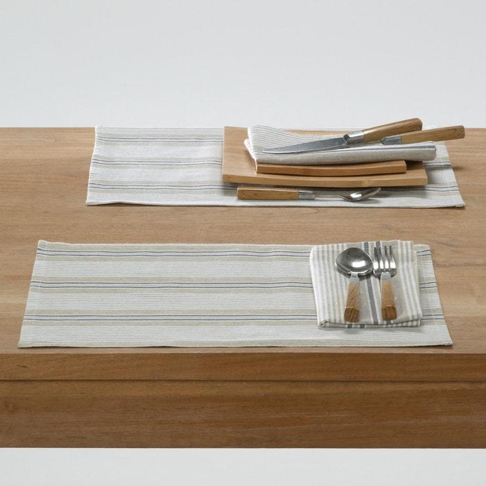 Image Lot de 2 sets de table FERM, rayés. La Redoute Interieurs