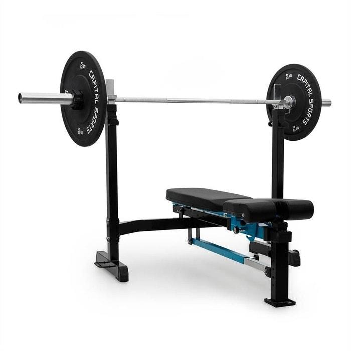 capital sports benchex banc de musculation inclin plat charge 250kg bleu capital sports. Black Bedroom Furniture Sets. Home Design Ideas