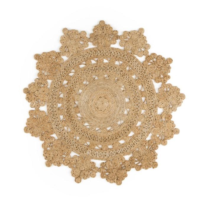 Alfombra redonda forma roset n rozza natural la redoute - La redoute alfombras ...