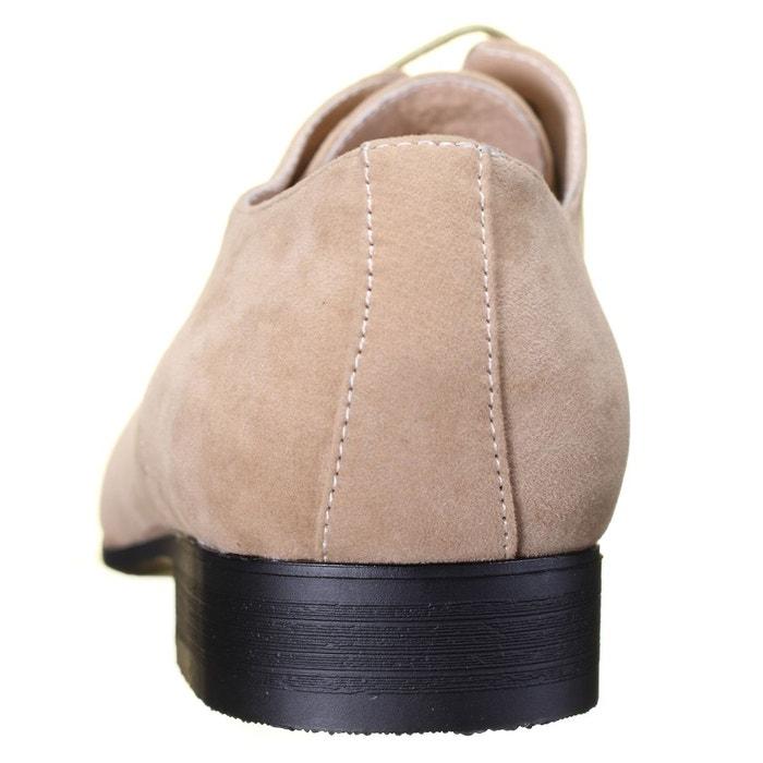 Chaussure derbie à lacets beige Galax