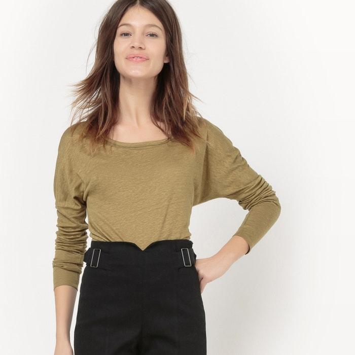 Image Tee-shirt en lin, manches longues La Redoute Collections