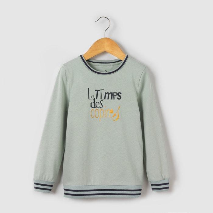 Image T-shirt maniche lunghe fantasia da 3 a 12 anni abcd'R