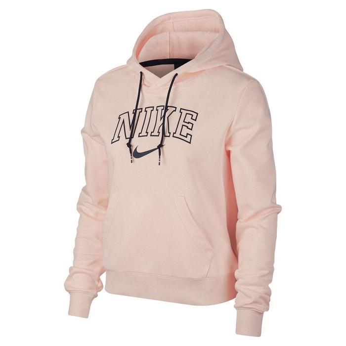 10ee048dd3 Sweat à capuche logo imprimé poitrine rose Nike | La Redoute