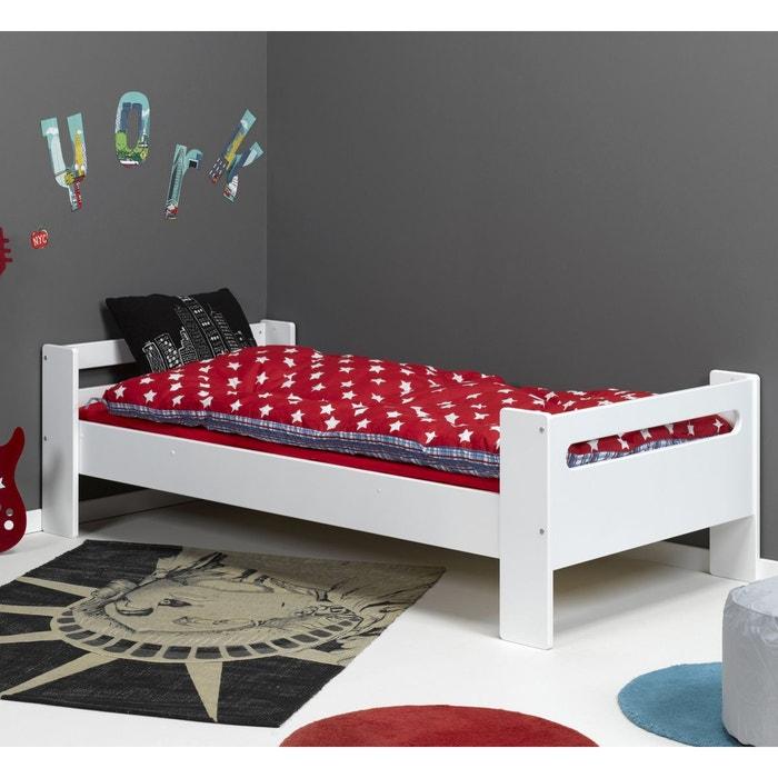 lit enfant avec sommier 90x190 blanc alfred et compagnie la redoute. Black Bedroom Furniture Sets. Home Design Ideas