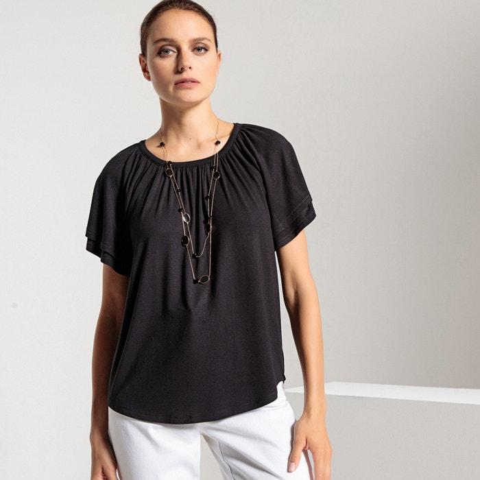 T-shirt scollo rotondo, maniche corte fantasia  ANNE WEYBURN image 0