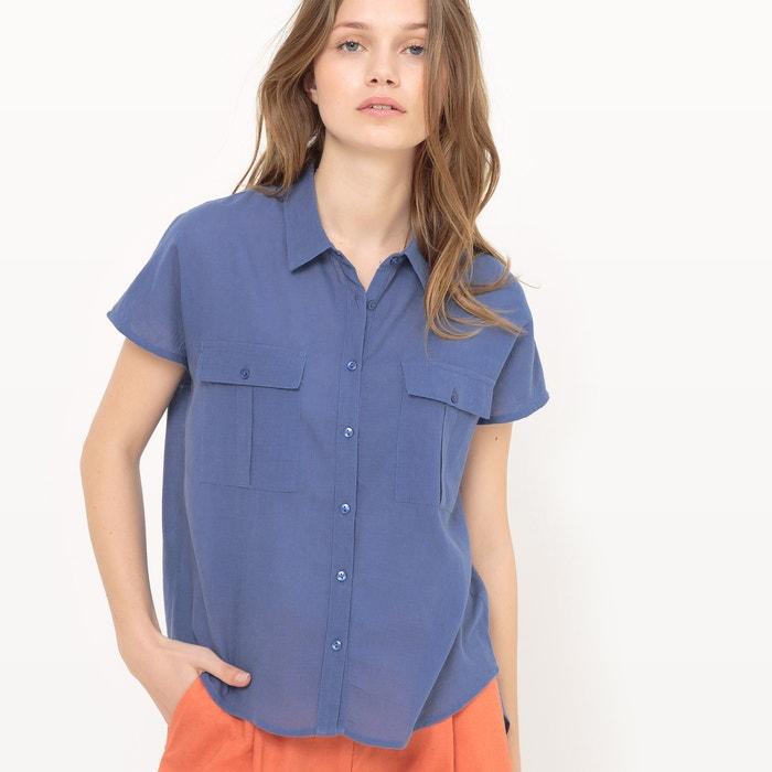 con Collections Redoute Camisa manga bolsillo La corta delante de zABBv