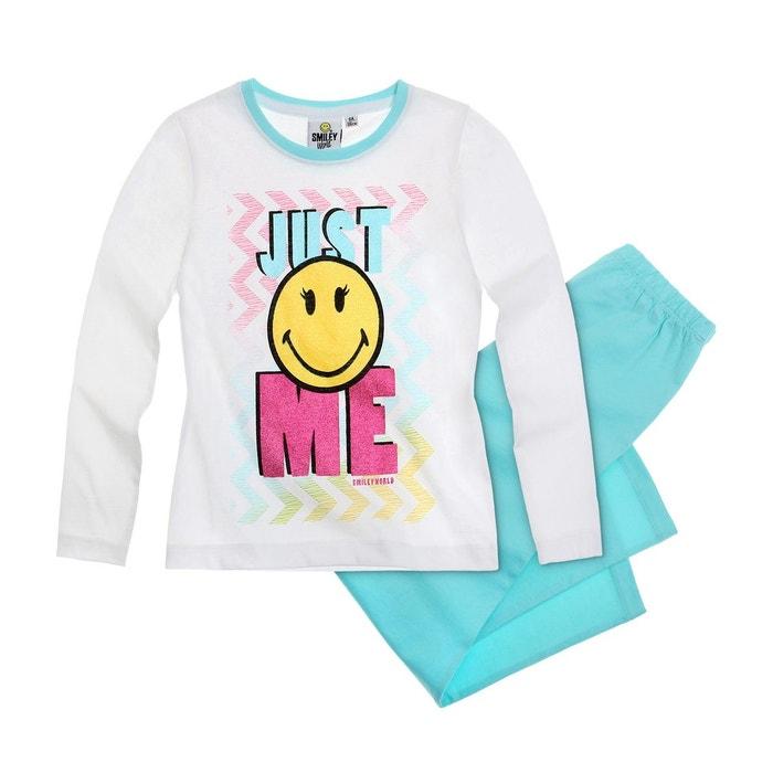 Pyjama fille bleu clair Smiley  La Redoute
