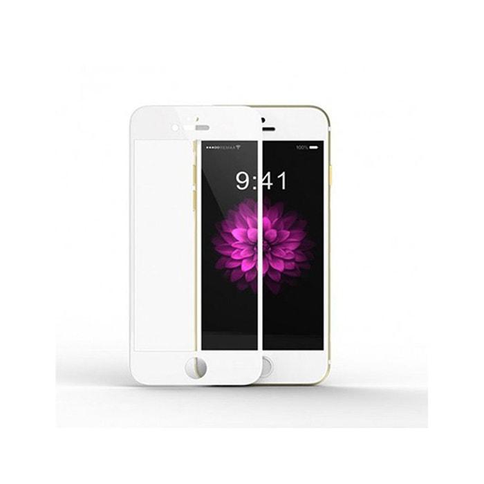 vitre iphone 6 iphone 6s transparente vitre en verre tremp contour blanc evetane couleur. Black Bedroom Furniture Sets. Home Design Ideas
