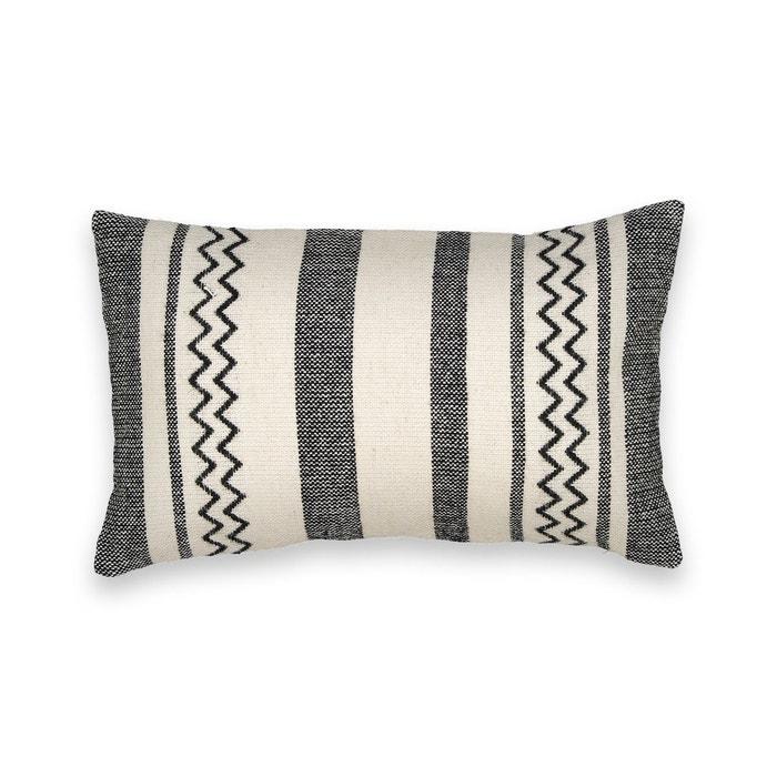 housse de coussin style berb re anja ecru noir am pm la redoute. Black Bedroom Furniture Sets. Home Design Ideas
