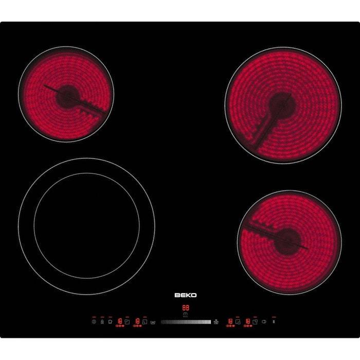 beko hic64502t vitroc ramique 60 cm vitroc ramique sans cadre couleur unique beko la redoute. Black Bedroom Furniture Sets. Home Design Ideas