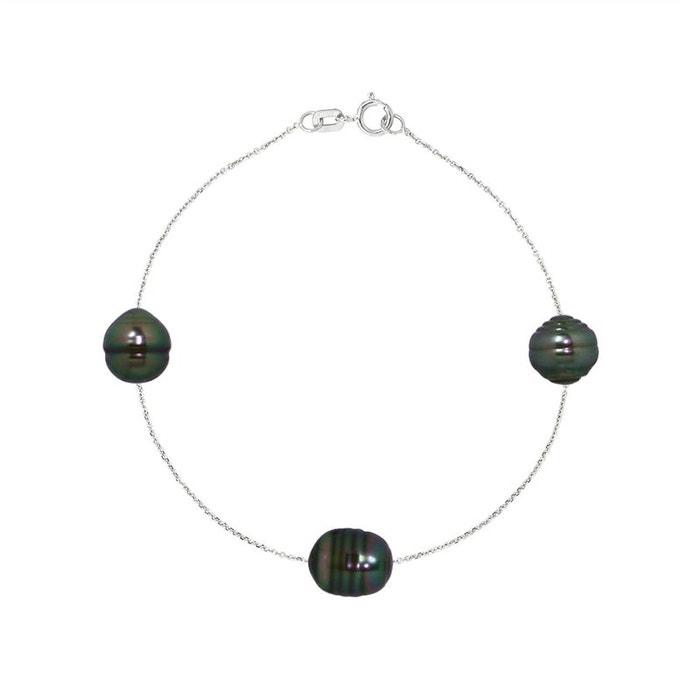 Faible Vente En Ligne Des Frais D'expédition Prix Incroyable Vente En Ligne Bracelet chaine or 375°°° & 3 véritables perles tahiti Perlinstinct | La Redoute fHGi4g