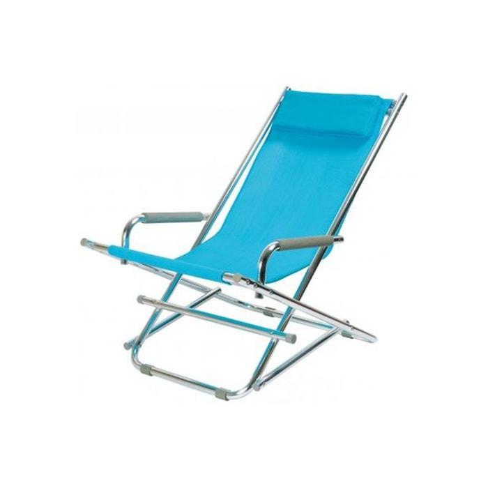 Chaise longue la chaise longue bleue ajania bleu la chaise for La redoute chaise