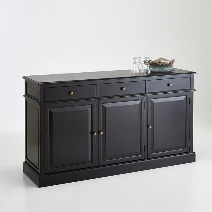 vaisselier 3 portes lipstick partie basse noir la redoute interieurs la redoute. Black Bedroom Furniture Sets. Home Design Ideas