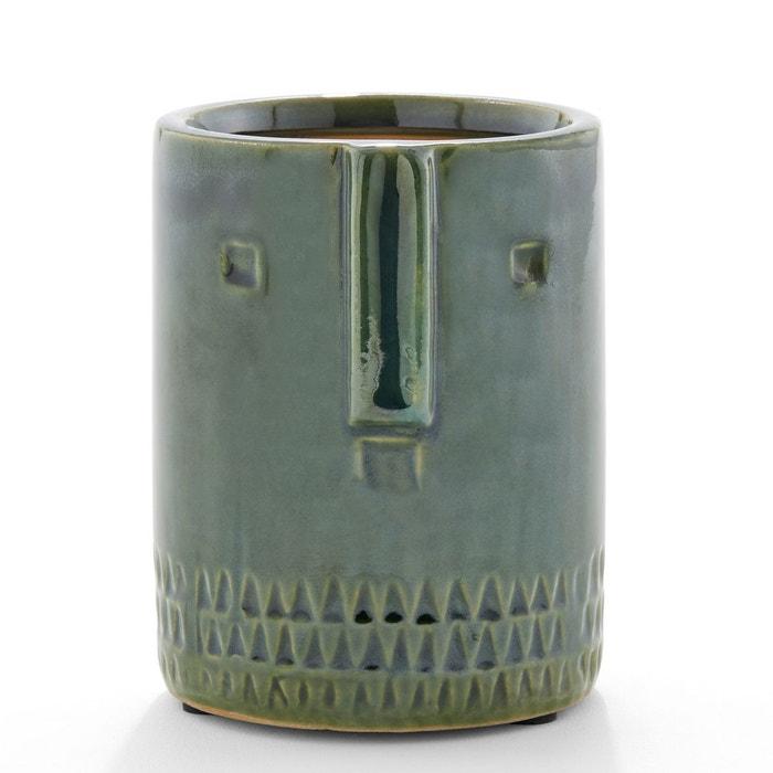 cache pot c ramique 15 5 cm sakina vert am pm la redoute. Black Bedroom Furniture Sets. Home Design Ideas
