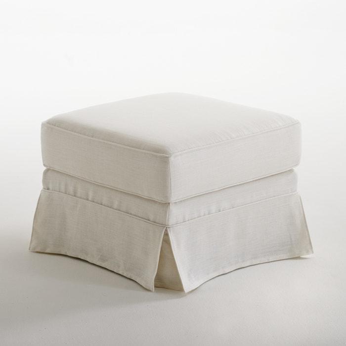 afbeelding Poef in gekreukt linnen, superieur comfort, Adelia La Redoute Interieurs