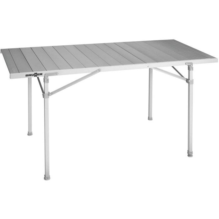 titanium quadra 6 table de camping argent argent brunner la redoute. Black Bedroom Furniture Sets. Home Design Ideas