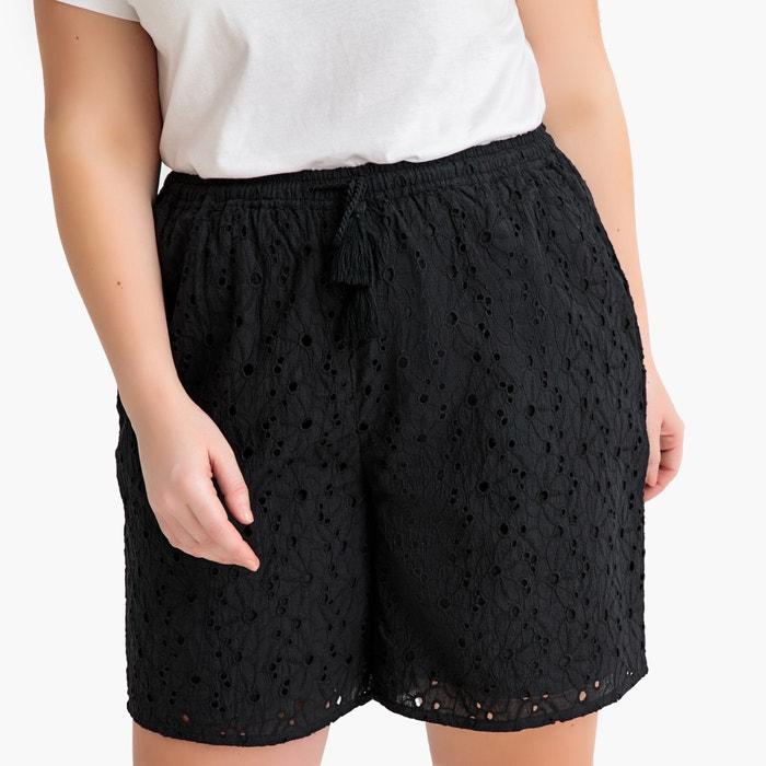 Lace Shorts Black Castaluna Plus Size La Redoute