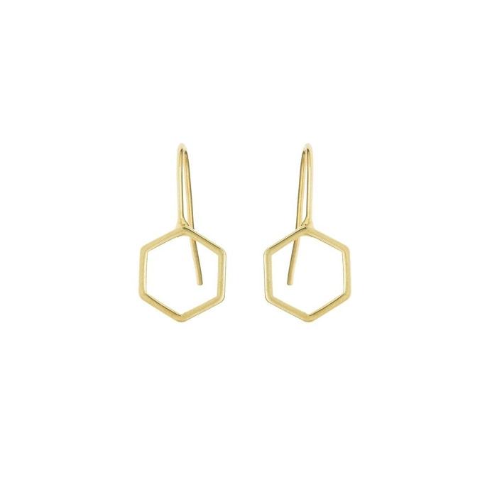 Boucles d'oreille Hexagone Tige