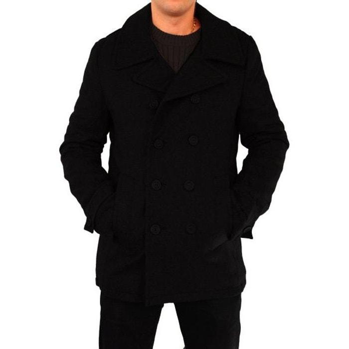 manteau caban homme franck noir kebello la redoute. Black Bedroom Furniture Sets. Home Design Ideas