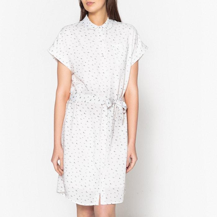Robe imprimée motifs bateaux col claudine Marie Sixtine imprimé blanc   La  Redoute c82f7720fc5d