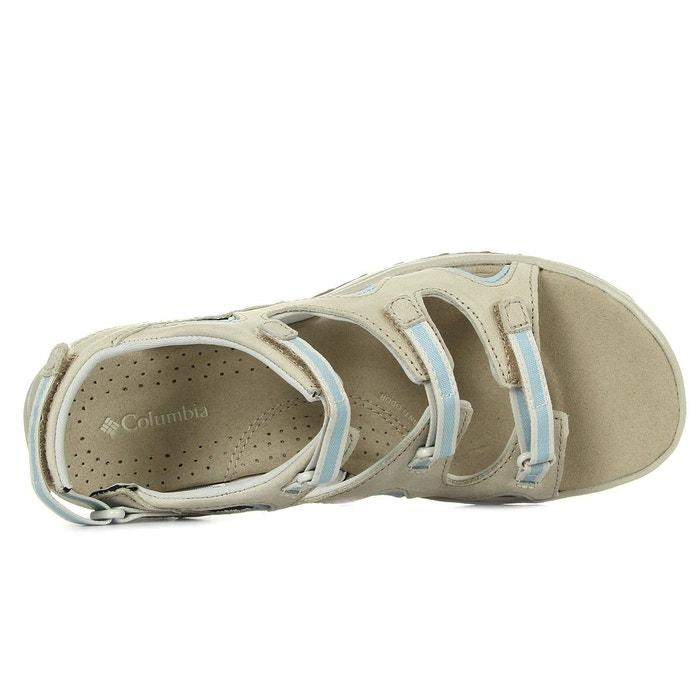 Sandales femme santiam wrap ancient fossil beige, bleu clair Columbia